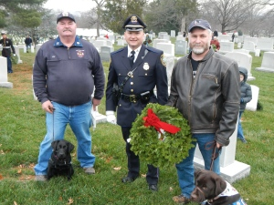 Ed with Rylie, Officer cyron, rick with moxie