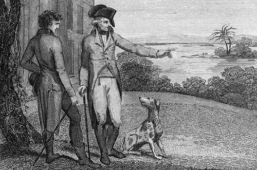 George Washington and one of his Foxhounds