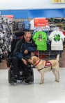 Owen and John in Walmart