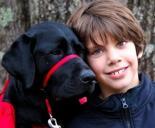 "Jake and his ""social dog"" Basket"
